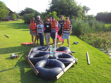 Raft Building Team Building